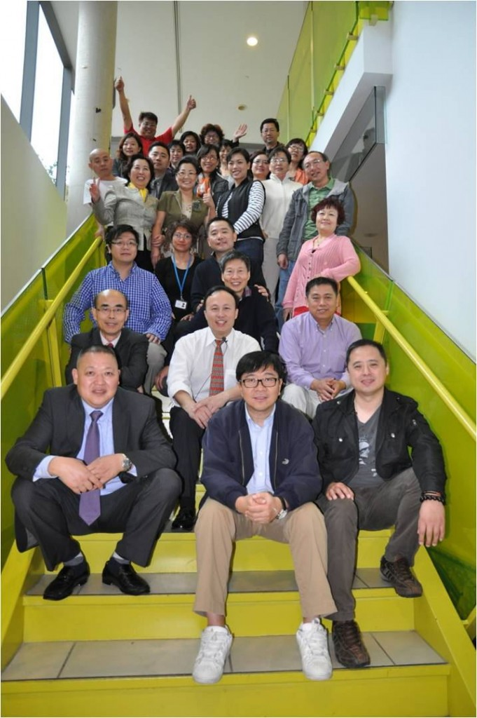 Howard with transnational entrepreneurs in Toronto
