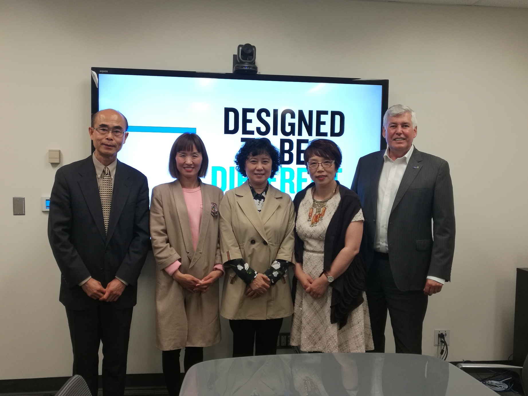 Meeting with guests from the Hebei University of Science and Technology